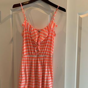 Lilly Pulitzer orange and white striped dress